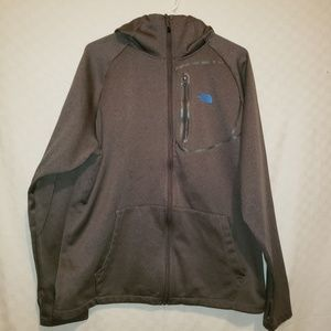 Grey The Noth Face Hooded Jacket